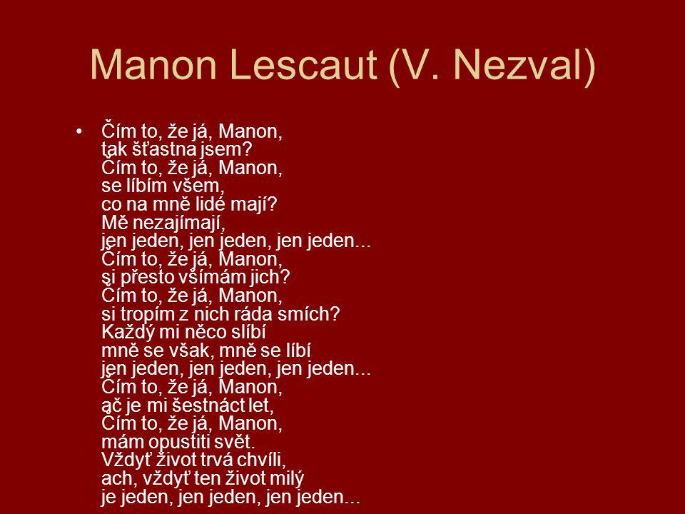 Manon Lescaut (V. Nezval)