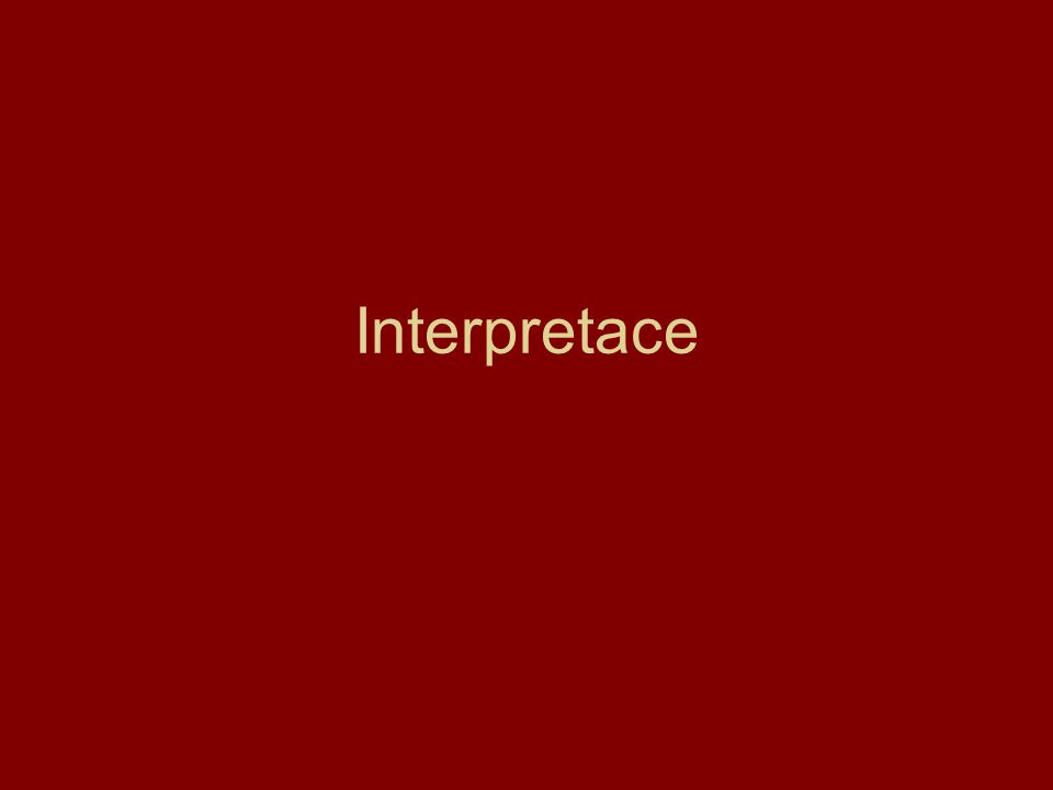 Interpretace