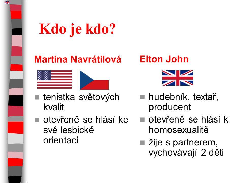 Kdo je kdo Martina Navrátilová Elton John tenistka světových kvalit
