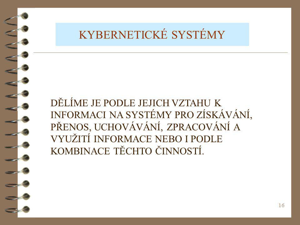 KYBERNETICKÉ SYSTÉMY