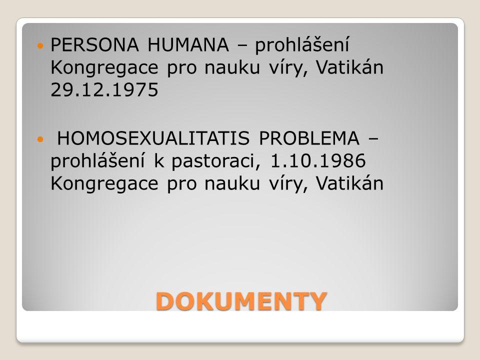 PERSONA HUMANA – prohlášení Kongregace pro nauku víry, Vatikán 29. 12