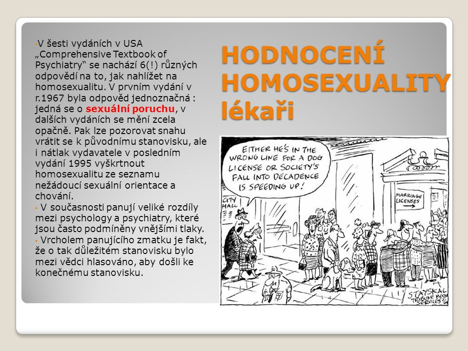 HODNOCENÍ HOMOSEXUALITY lékaři