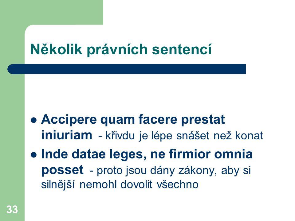 Několik právních sentencí