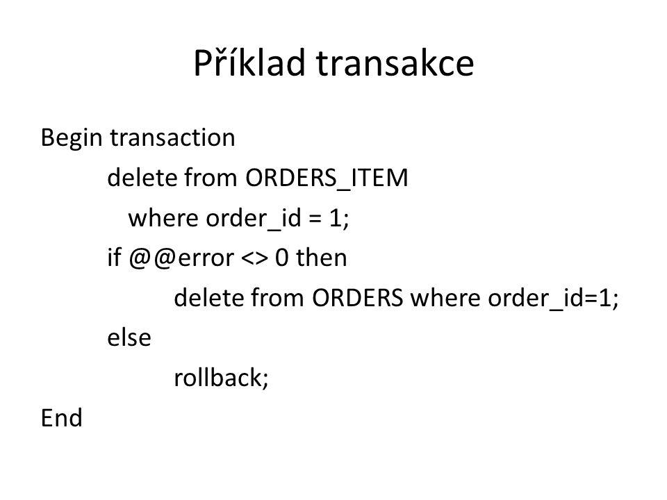 Příklad transakce