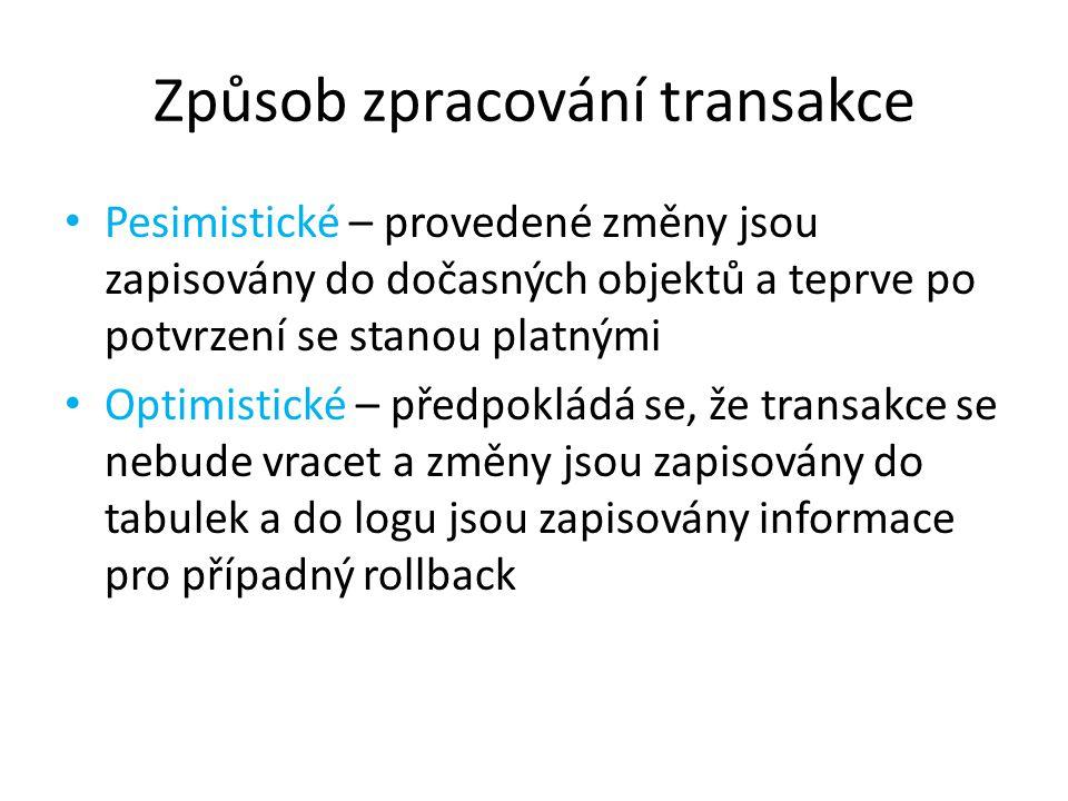 Způsob zpracování transakce