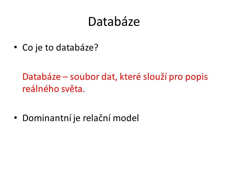 Databáze Co je to databáze