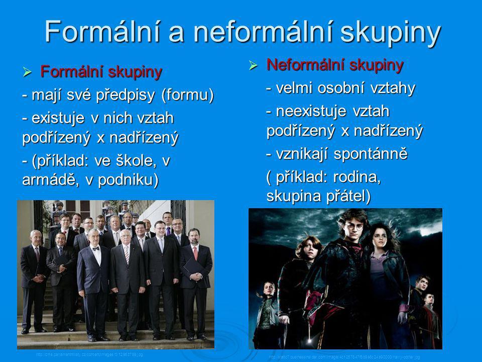 Formální a neformální skupiny