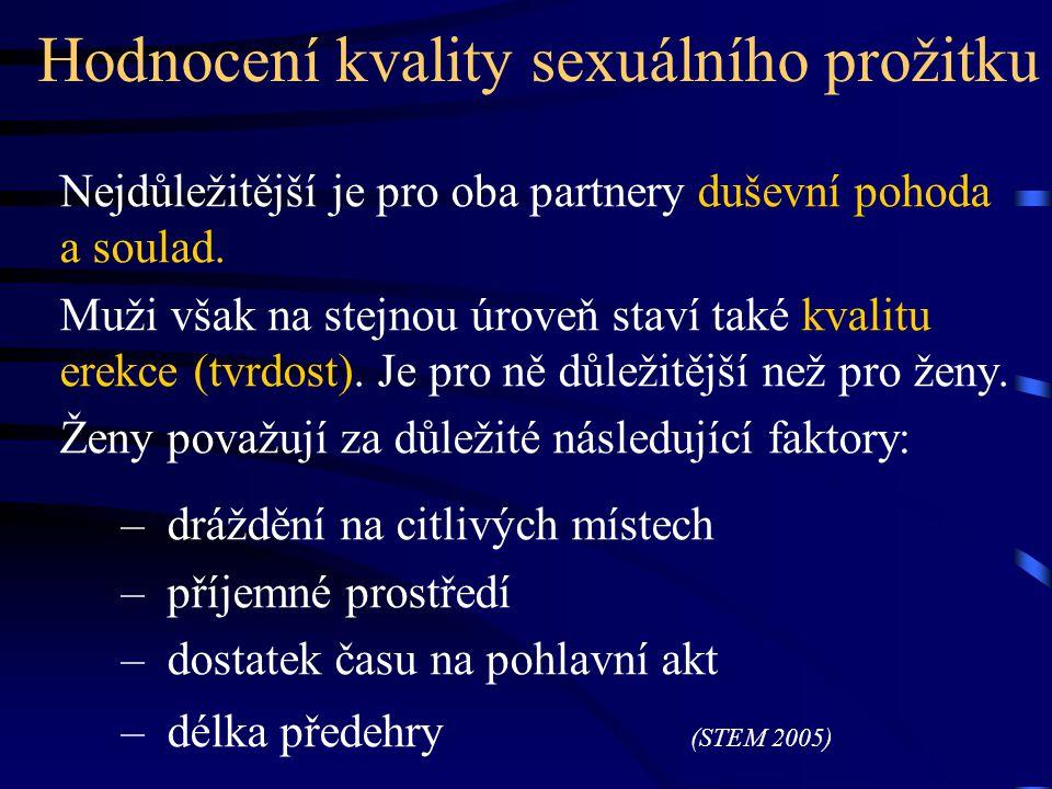 Hodnocení kvality sexuálního prožitku