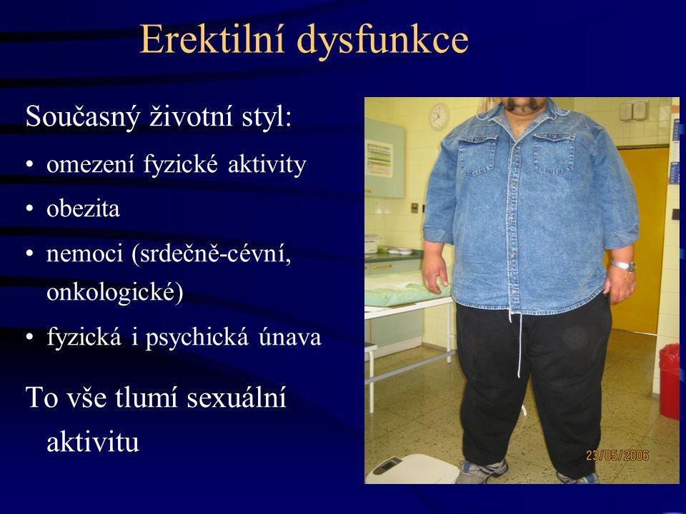 Erektilní dysfunkce Současný životní styl: