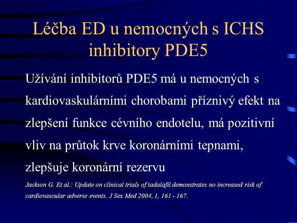 Léčba ED u nemocných s ICHS inhibitory PDE5