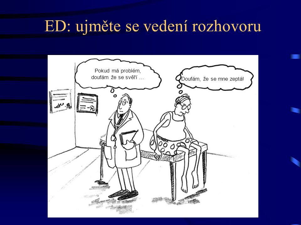 ED: ujměte se vedení rozhovoru