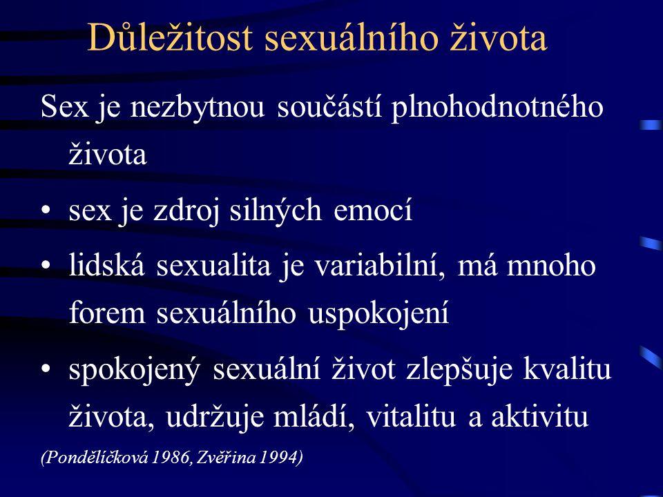 Důležitost sexuálního života