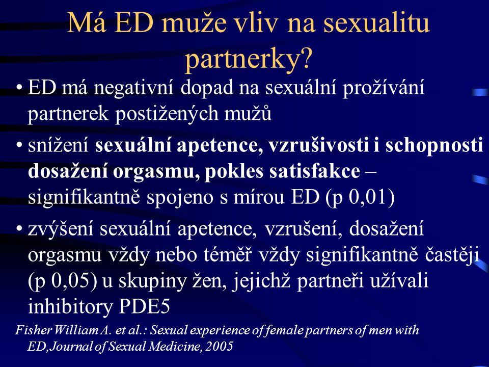 Má ED muže vliv na sexualitu partnerky