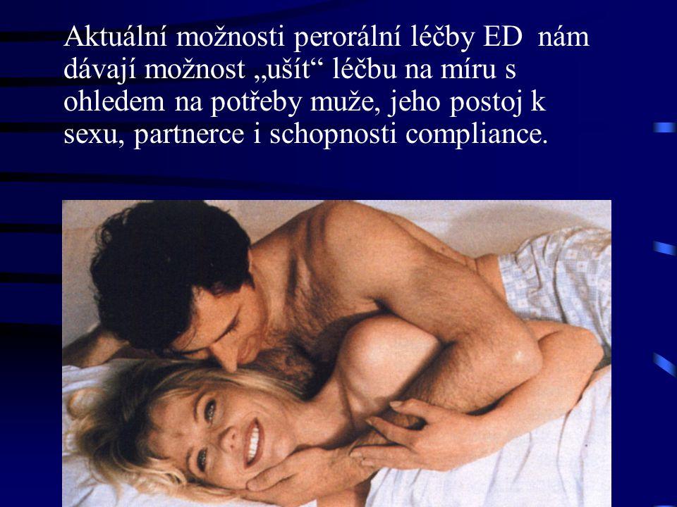 """Aktuální možnosti perorální léčby ED nám dávají možnost """"ušít léčbu na míru s ohledem na potřeby muže, jeho postoj k sexu, partnerce i schopnosti compliance."""