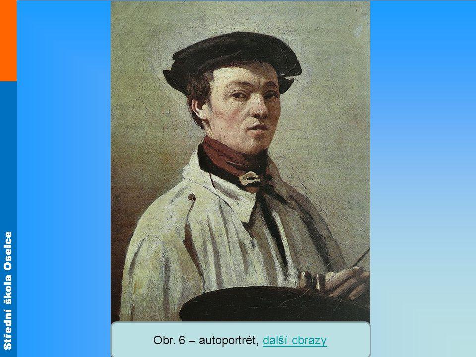 Obr. 6 – autoportrét, další obrazy
