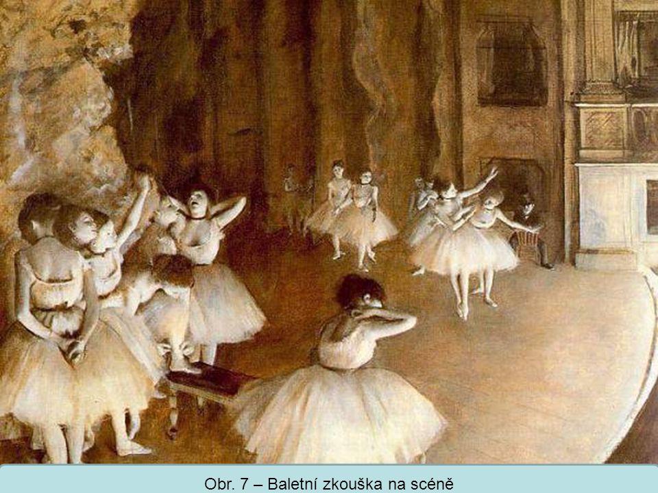 Obr. 7 – Baletní zkouška na scéně