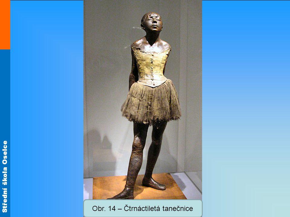 Obr. 14 – Čtrnáctiletá tanečnice