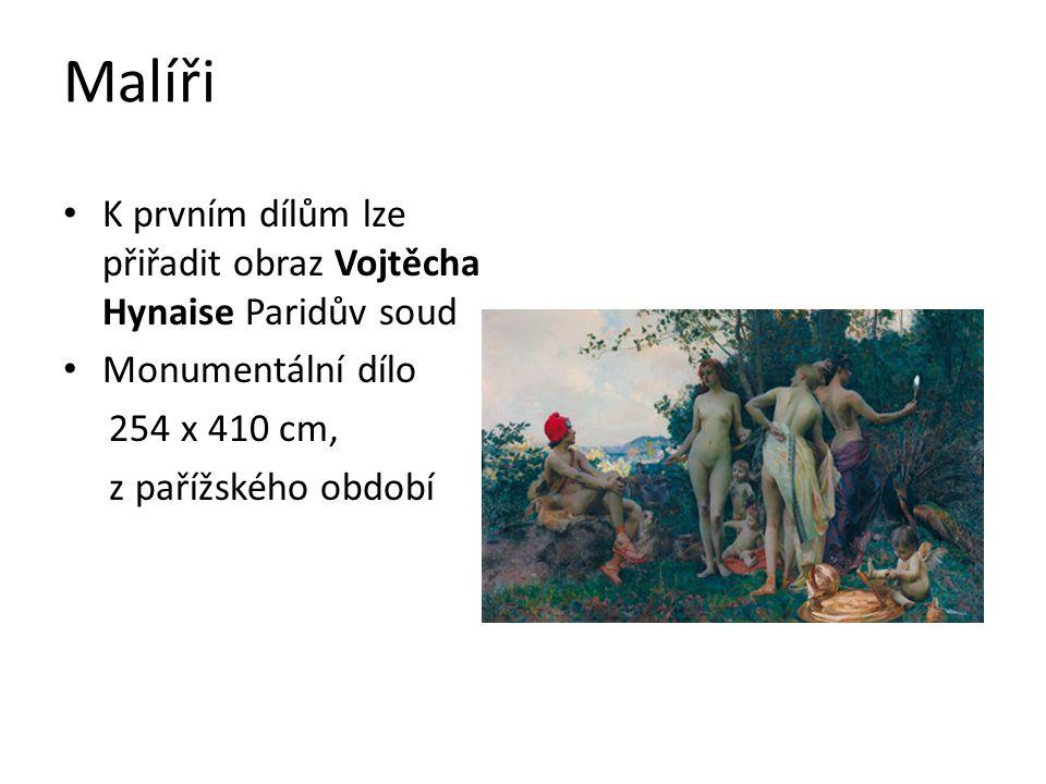 Malíři K prvním dílům lze přiřadit obraz Vojtěcha Hynaise Paridův soud