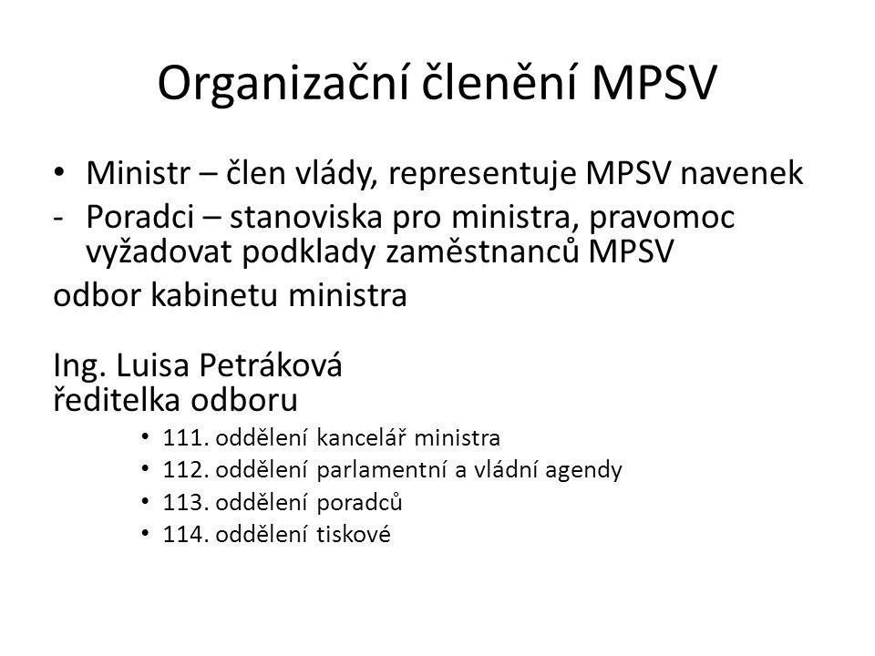 Organizační členění MPSV