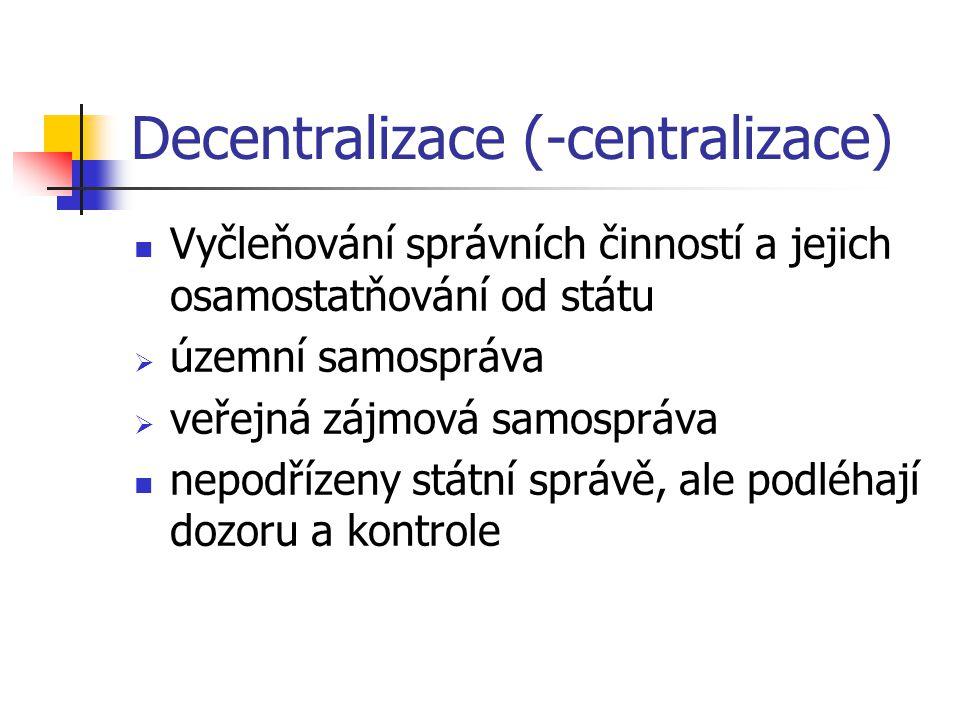 Decentralizace (-centralizace)