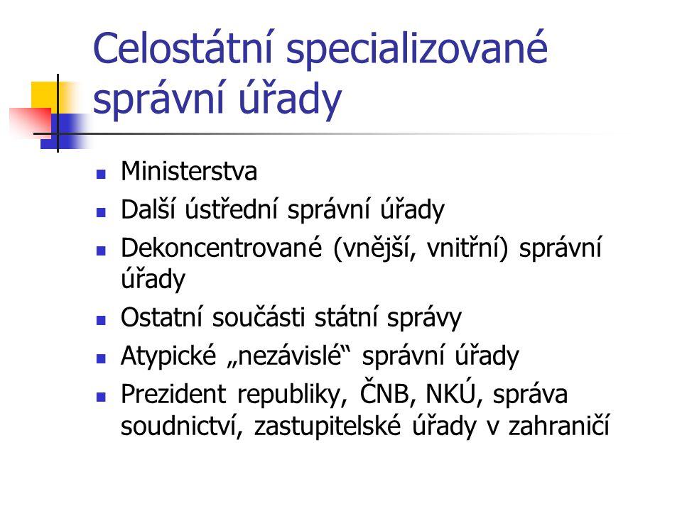 Celostátní specializované správní úřady