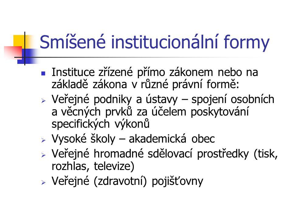Smíšené institucionální formy