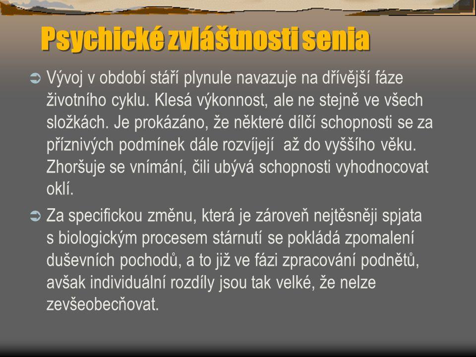 Psychické zvláštnosti senia