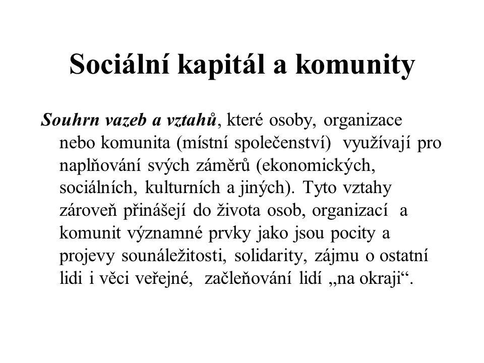 Sociální kapitál a komunity