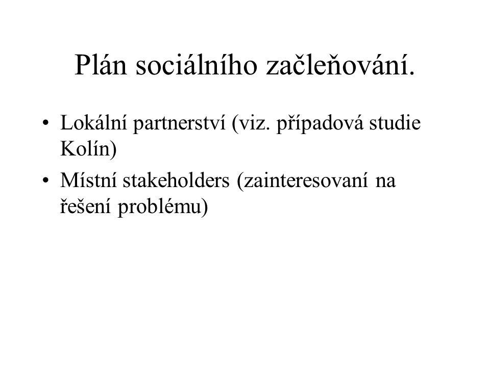 Plán sociálního začleňování.