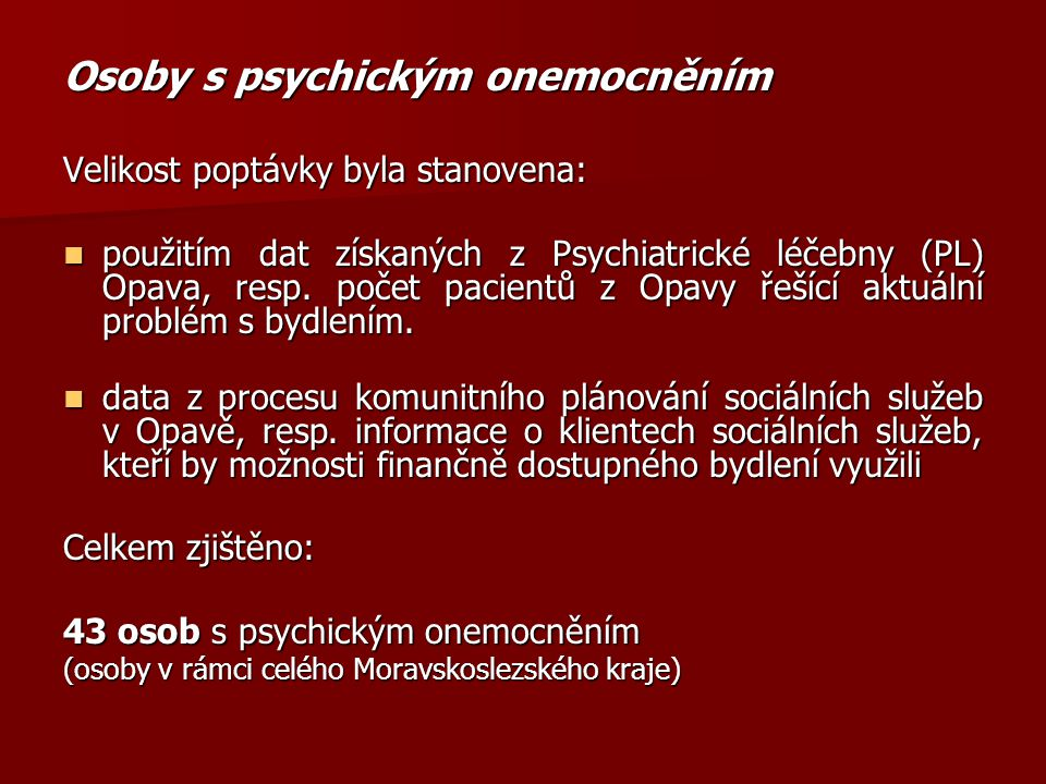 Osoby s psychickým onemocněním