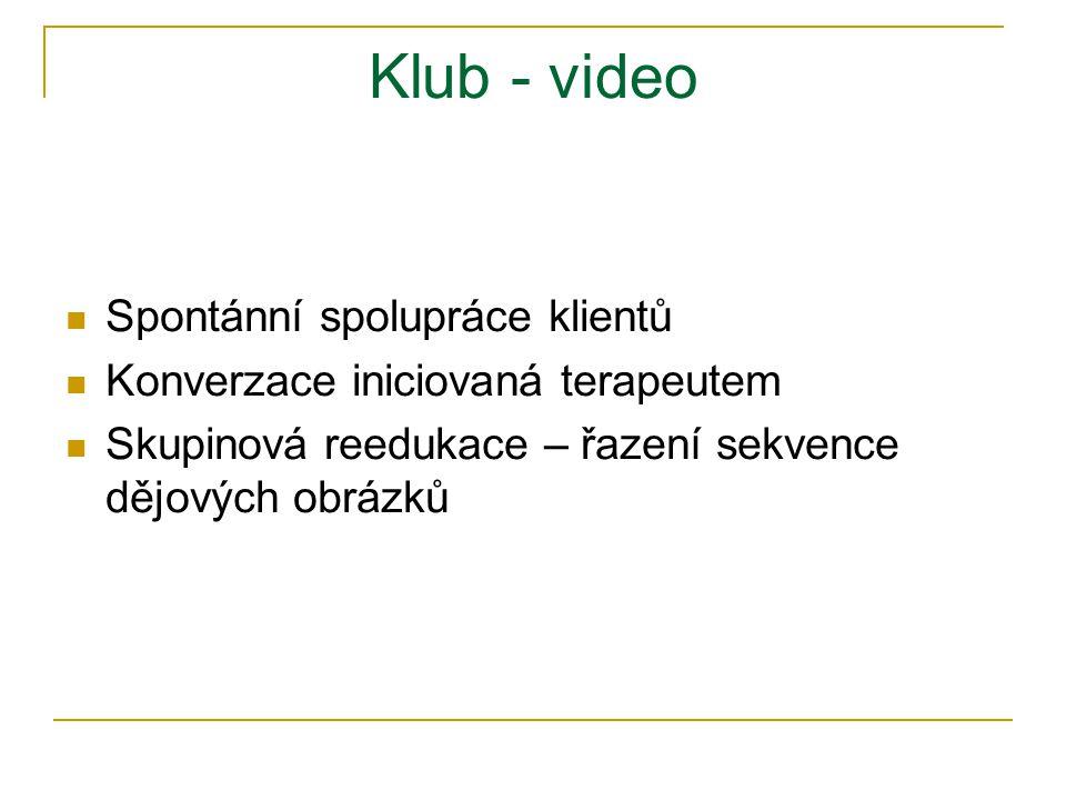 Klub - video Spontánní spolupráce klientů