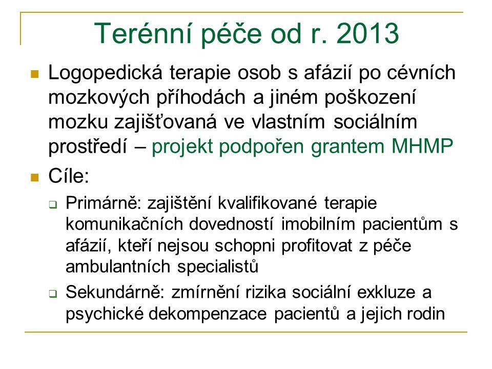 Terénní péče od r. 2013