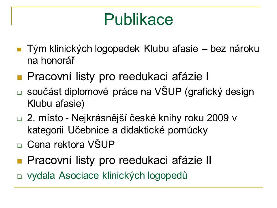 Publikace Pracovní listy pro reedukaci afázie I