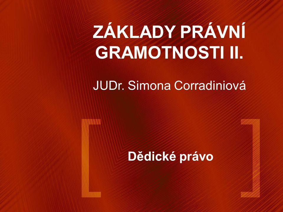 ZÁKLADY PRÁVNÍ GRAMOTNOSTI II.