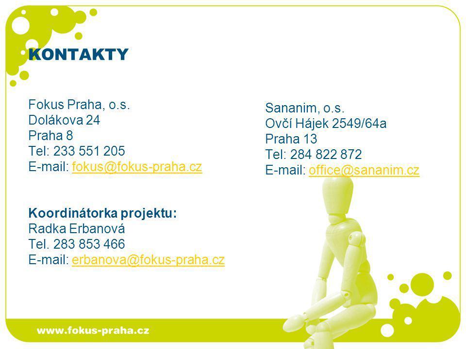 KONTAKTY Fokus Praha, o.s. Sananim, o.s. Dolákova 24