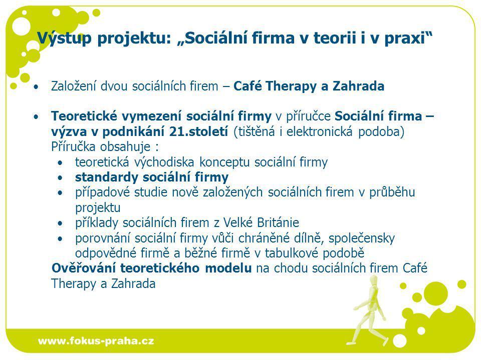 """Výstup projektu: """"Sociální firma v teorii i v praxi"""
