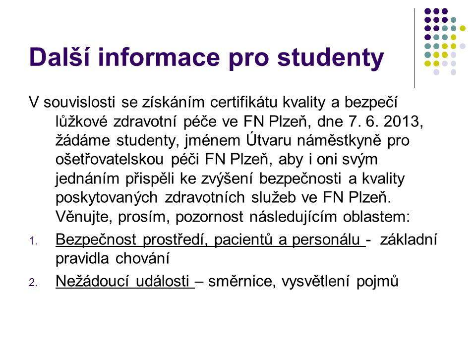 Další informace pro studenty