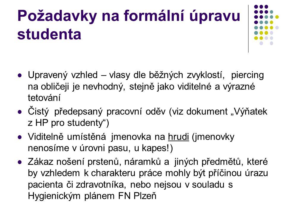 Požadavky na formální úpravu studenta