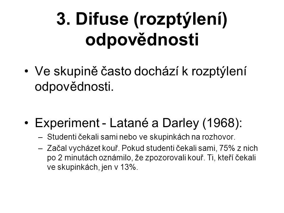 3. Difuse (rozptýlení) odpovědnosti