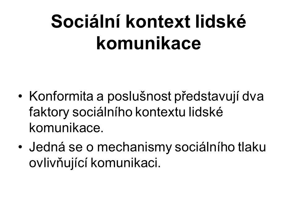 Sociální kontext lidské komunikace
