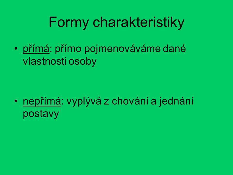 Formy charakteristiky