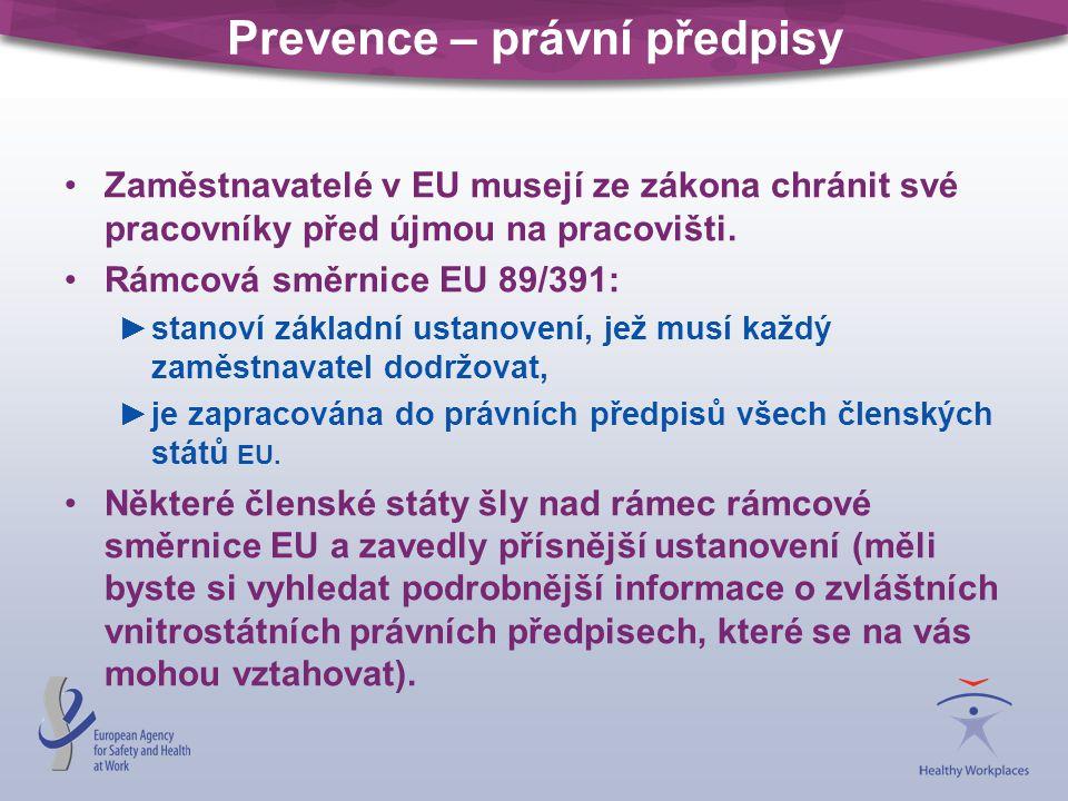 Prevence – právní předpisy