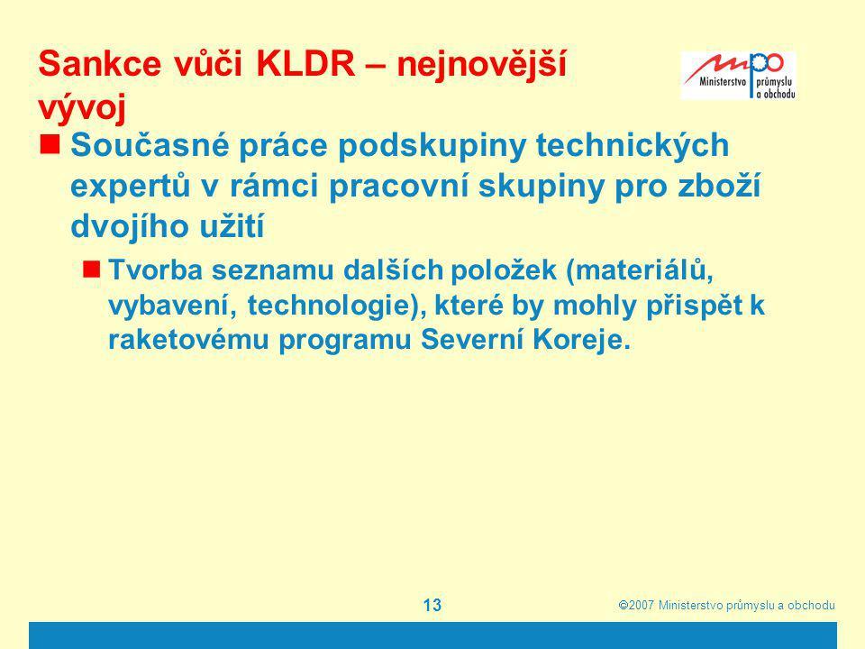 Sankce vůči KLDR – nejnovější vývoj