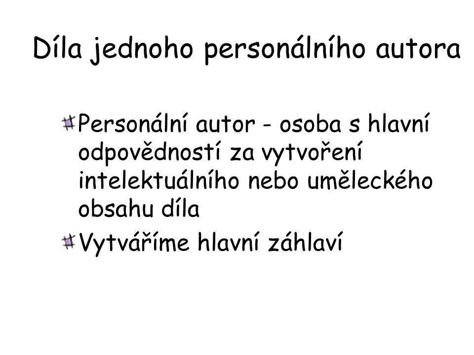 Díla jednoho personálního autora