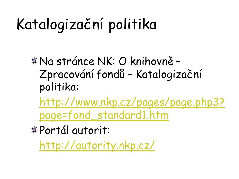 Katalogizační politika