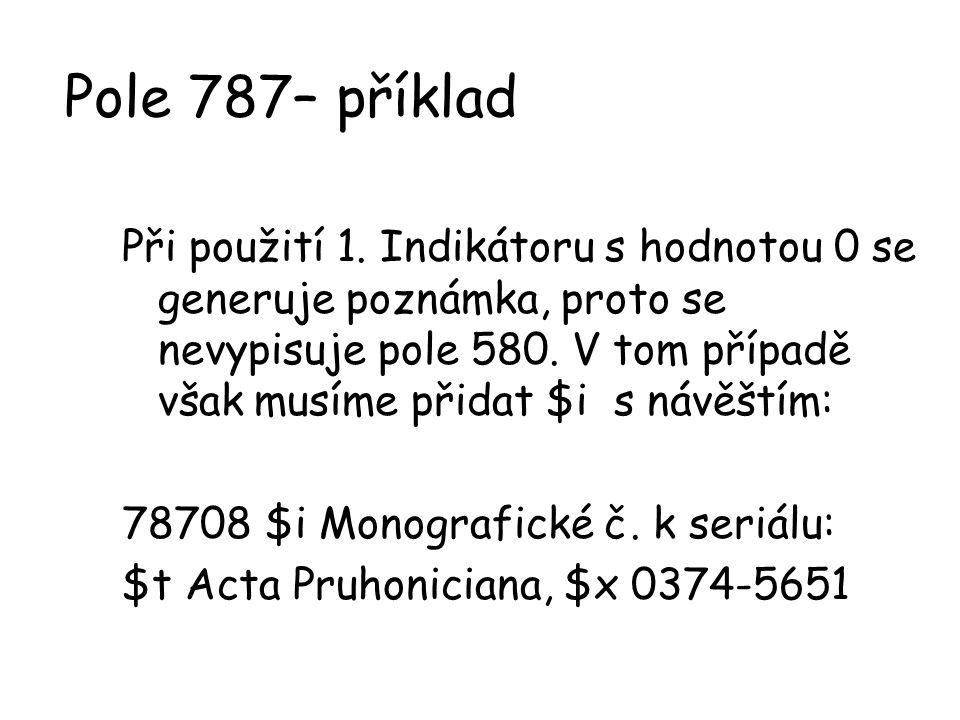 Pole 787– příklad