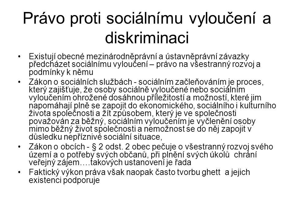 Právo proti sociálnímu vyloučení a diskriminaci