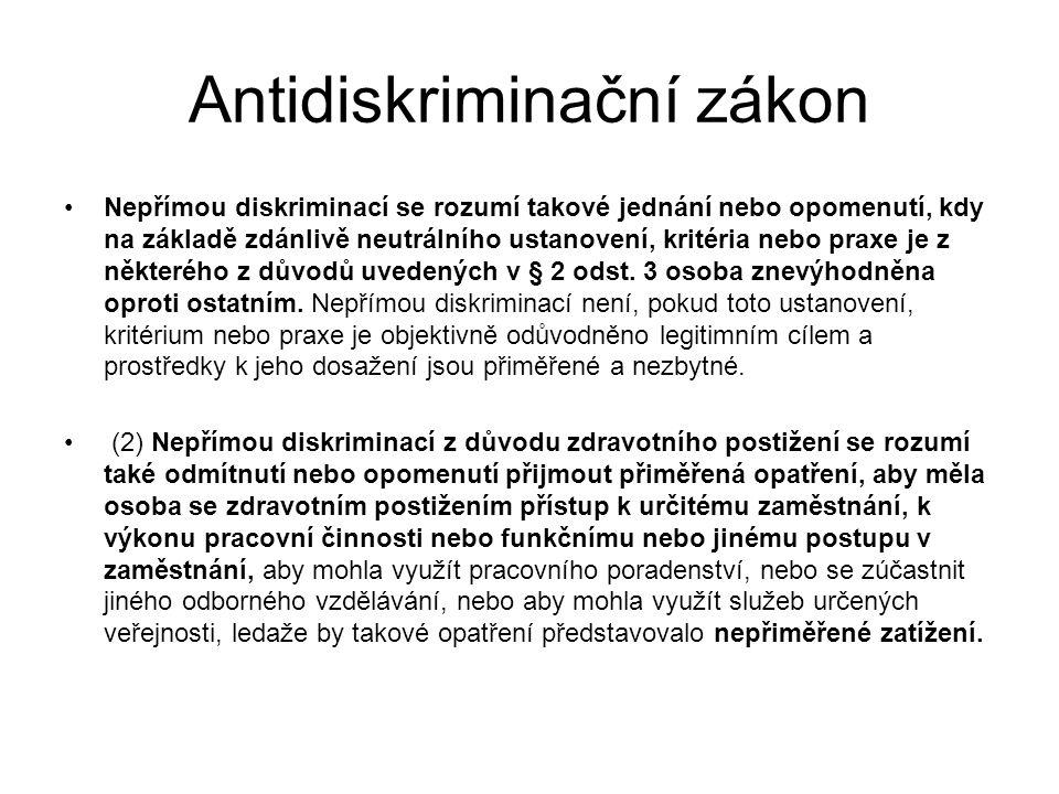 Antidiskriminační zákon