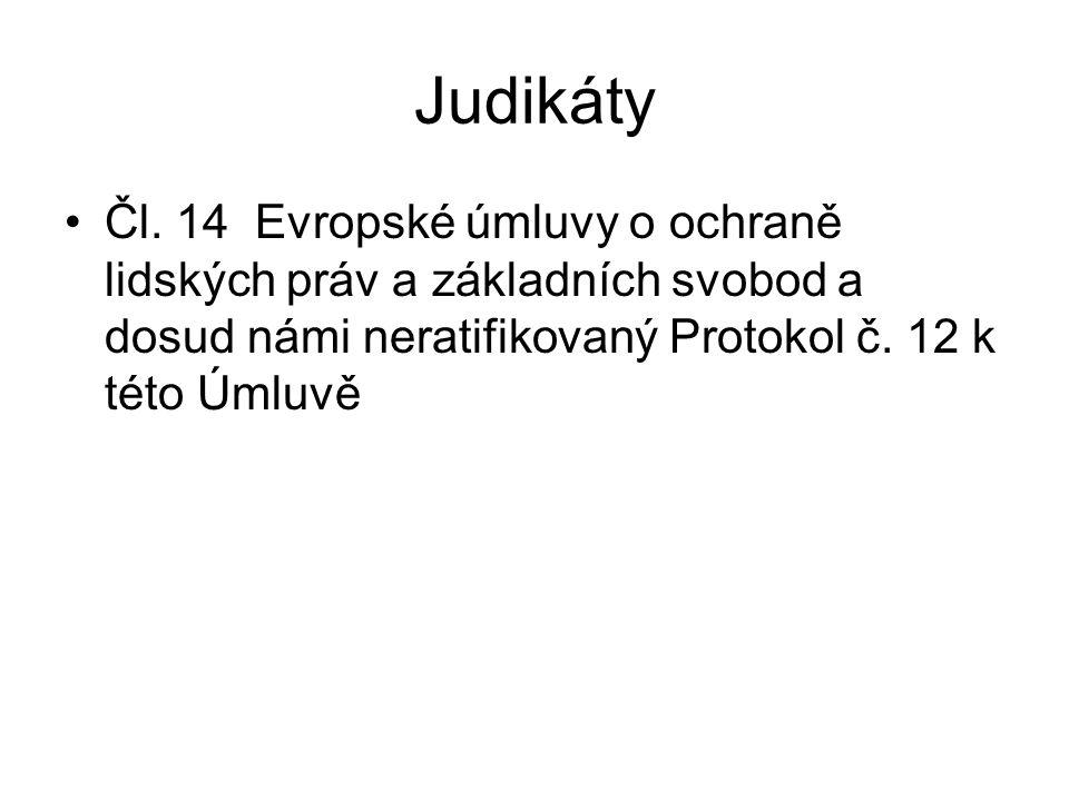 Judikáty Čl.