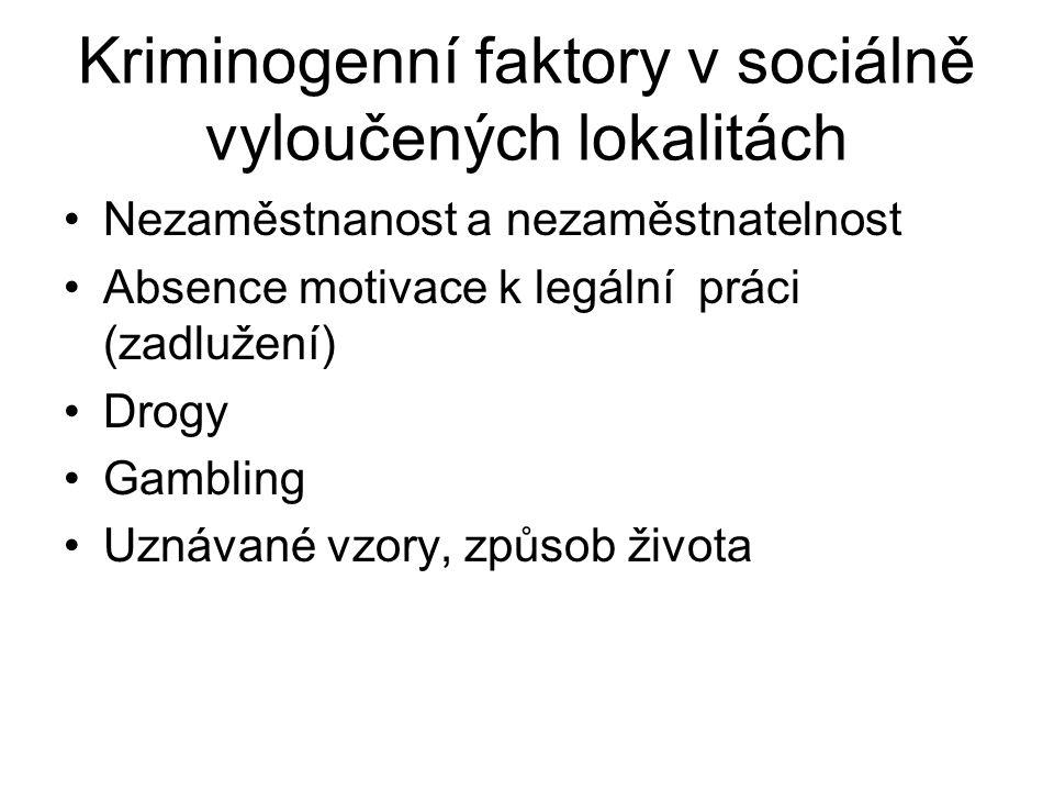 Kriminogenní faktory v sociálně vyloučených lokalitách